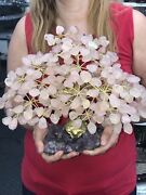 Big Hand Made Sculpture Of Pink Quartz Tree 3 Kg = 6.6 Lbs Free Shipping