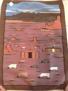 Wonderful Navajo 30 X 41 Artist Woven Pictorial Rug/wall Hanging Many Farms
