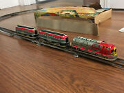 Vintage Marusan Tin Sparkling Express Train W/box Fully Working And Still Sparks