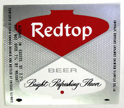 Atlantic Brewing Co Redtop Beer Label Il12oz Var. 4- 3.2 To 7 Abw