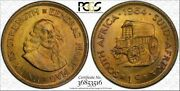 1964 South Africa 1 Cent Pcgs Ms65 Color Toned Coin Only 1 Graded Higher