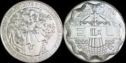 1989 Christiaan Huygens Silver Round One Troy Ounce Of Fine Silver.999 Pure