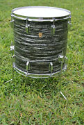1969 Ludwig Classic 16 Black Oyster Pearl Floor Tom Fr Your Ringo Drum Set D747