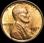 1925-d Lincoln Cent Wheat Penny --- Pcgs Ms-64 Red Gem Bu++ --- 726