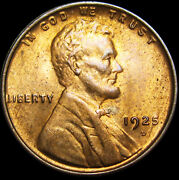 1925-d Lincoln Cent Wheat Penny --- Pcgs Ms-64 Red Gem Bu++ --- 222