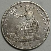 1878-s Trade Dollar Choice Extremely Fine Classic Type Coin 0502-04