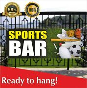 Sports Bar Banner Vinyl / Mesh Banner Sign Flag Sports Club Road Ice House Joint