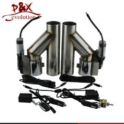 3 Dual 2 X Electric Exhaust Cutout Dump Valve W/wireless Andswitch Control Kit