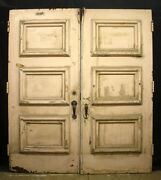 2 Pair Avail 72x83x2 Antique Vintage Wood Wooden Double Entry Exterior Doors
