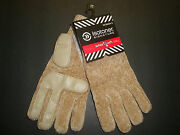 New 38 Isotoner Women's Smartouch Chenille Knit Gloves With Palms Camel Os