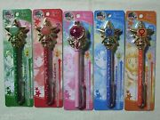 Sailor Moon 20th Anniversary Pointer Ball Point Pen Set Of 5 Prism Stationary