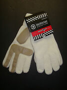 New 38 Isotoner Women's Smartouch Chenille Knit Gloves With Palms Ivory Os