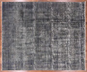 9and039 8 X 12and039 0 Overdyed Hand Knotted Wool Rug - Q1957