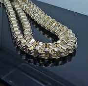 Real 10k Yellow Gold Mens Byzantine Chain 20 Inch 10mm Franco Cuban Rope Box