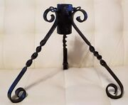 Antique German Wrought Iron Christmas Tree Stand