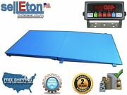 72 X 48 6' X 4' Industrial Floor Scale With A Ramp L 2500 Lbs X .5 Lb