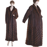 28k Lknw Extreme Beauty Paris Couture Red Auburn Mink Directional Swing Coat