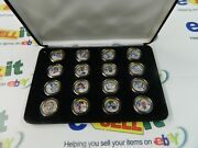 Golden Baseball Collection Legends 16 Coin Set Gold Plated Quarters With Case