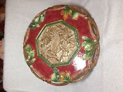 Fitz And Floyd Christmas Lodge Cake Stand New Never Used