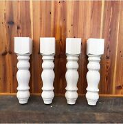 Chunky Farmhouse Bench Legs - Maple - Made In Nc - 3.5 X 3.5 X 16 - Set Of 4