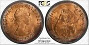1967 Great Britain One Penny Bu Pcgs Ms64rb Circle Toned Only 5 Graded Higher
