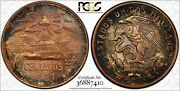 1967-mo Mexico 20 Centavos Cents Pcgs Ms63bn Target Toned Only 5 Graded Higher