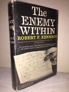 The Enemy Within By Robert F. Kennedy Signed, Provenance Friend Of Rfk And Jfk