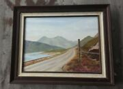 """Vintage Oil Painting Of Scotland """"road To Skye"""" – Signed Lilli Nettell"""