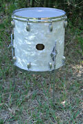 Add This Rare Gretsch 14 White Pearl 4417 Floor Tom To Your Drum Set Today A765