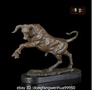 12 Abstract Art Sculpture China Bronze Marble Bull Ox Cow Cattle Statue Figurine