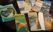 Lot Of 11 Vintage 1950's Florida's Silver Springs Booklets, Maps, And Mementos