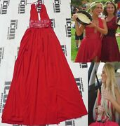 Lana Signed Personally Worn Total Divas Used Dress Bas Beckett Coa Wwe Red Ring