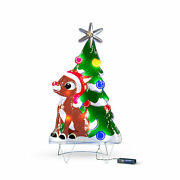 2and039 Festive Rudolph The Red Nosed Reindeer Lighted Outdoor Christmas Decoration