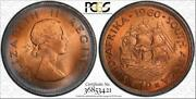 1960 South Africa 1 Penny Bu Pcgs Ms65rd Circle Color Toned Only 4 Graded Higher