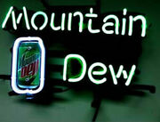 New Mountain Dew Soda Beer Bar Cub Decor Real Glass Neon Light Sign 20x16
