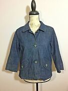 Womenand039s Jacket Size S Christopher Banks Jean / Denim Comfortable Fit And Style