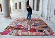 Antique Rughandmade Rug Vintage Patchwork Decorative Carpet Area Rug13and0397x9and03911