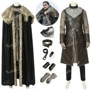 2019 Game Of Thrones Vol.8 Jon Snow Costume Cosplay Outfit Comic Con Fancy Dress