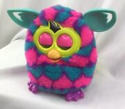 Furby Boom Pink Blue Teal With Hearts Hasbro Interactive Works Untested 2012