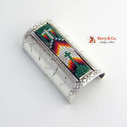 Extra Large Glass Bead Mosaic Pony Tail Cover