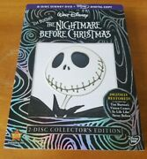 The Nightmare Before Christmas Dvd, 2008, 2-disc Set, Collectors Edition New