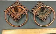 Coppercraft Guild Vintage Look Towel Rings Holder Wall Mounted Aged Copper Color
