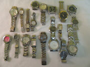 Lot Of 20 Watches Mens Womens Stainless Type Bundle