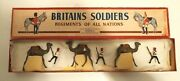 Britains Toy Soldiers Set No. 48 Postwar 3 Riders And 3 Camels In Original Box