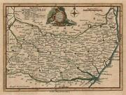 Suffolk Drawn From An Actual Survey. Thomas Kitchin. County Map 1747 Old