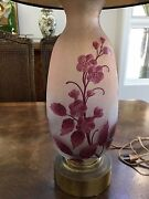 Legras French Art Deco Period Cameo Glass Table Lamp Vintage