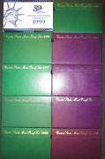 Proof Sets 1990 - 1999 All 10 Sets Coin Collection Boxes/coa Great Gift Idea