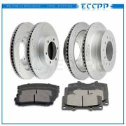Ceramic Brake Pads And Rotor Front Rear For Toyota 4runner Sport 4.0l 4.7l 04-09