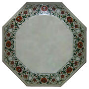 18x18 Antiques Coffee Table Top Border Marble Inlay Design Pietra Dura 341