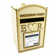 Large Wood Self Assembly Wedding Party Event Post Box - Basic Royal Mail Style